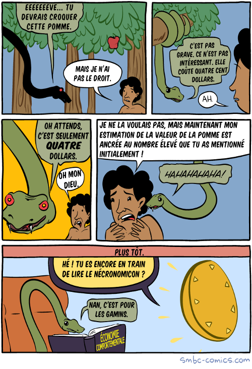 Comic strip SMBC : Eve et l'effet d'ancrage