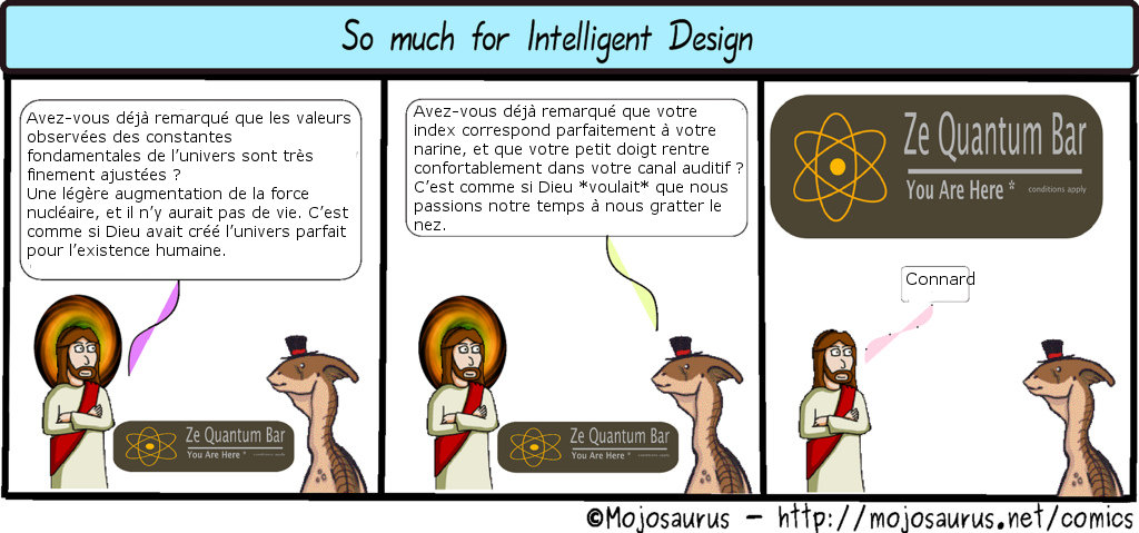 so much for intelligent design
